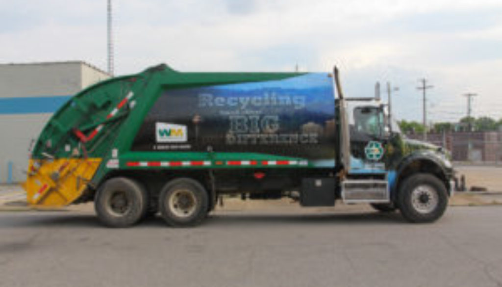 Waste Management Recycle Truck Wrap - High Resolutions
