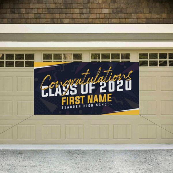 Graduation Banner - navy