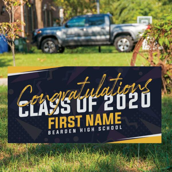 Graduation Yard Sign - navy