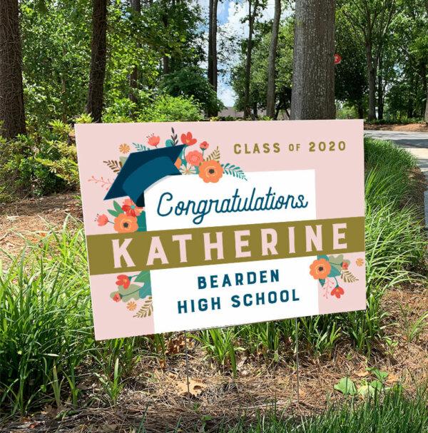 Graduation Yard Sign - Floral